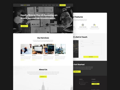 Private Equity Firm Website investment firm company design landing page website web design clean ux ui minimal