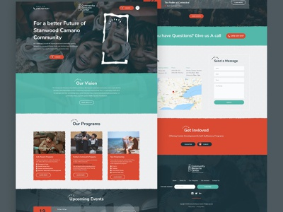 Non-Profit's website Redesign non profit design landing page website web design clean ux ui minimal