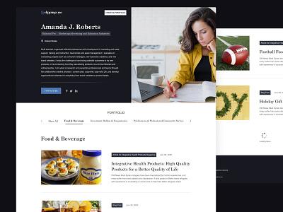 Writer online portfolio design online portfolio portfolio writing writer design landing page website web design clean ux ui minimal