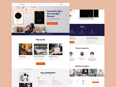 Night Sky Poster Website b2c company business design landing page website web design clean ux ui minimal