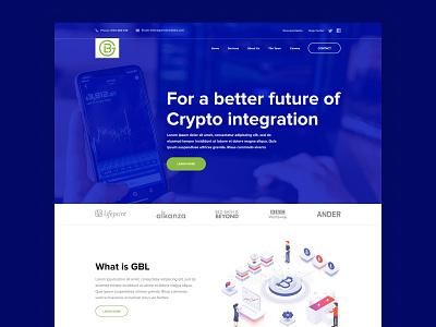 Custom Development Company Website software development company crypto currency integration. development software crypto company design landing page website web design clean ux ui minimal
