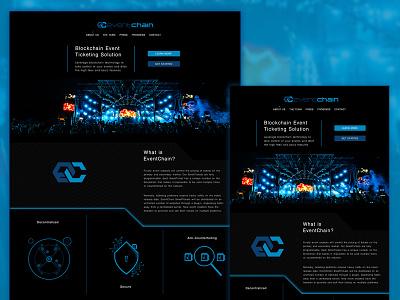 A Blockchain Ticketing Solution web tech minimal homepage debut ux ui blockchain website user experience user interface