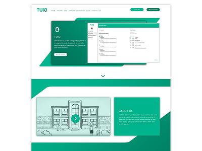 TUIO Homepage Redesign uxd technologies website homepage user experience user interface mockup desktop ux ui