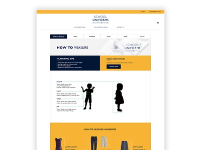 Tommy Hilfiger How to Measure Page Design website mockup user interface user experience ui