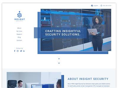Insight Security Website mockup tech minimal homepage website user interface user experience ui