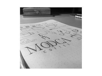Modca Coffee Sketch branding brand identity sketchbook sketching sketches sketch logosketch logo design logotype logos logo
