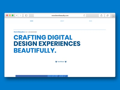 New Personal Site web designing web designer web design webdesigner personal site minimal homepage ux mockup user interface user experience website ui