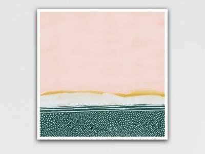 Hills over hills modern print modern art digital art art print art procreate abstract gouache digital