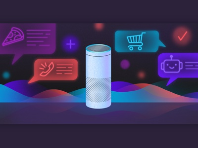 Voice commerce | Editorial Illustration ai artificial intelligence chatbot procreate illustration artwork art voice assistant voice