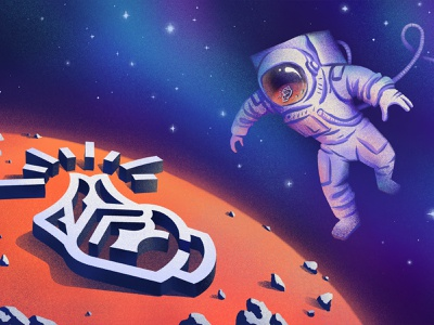 Space background space cosmonaut cosmos article photoshop procreate art illustration