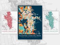 Poster map | Yuzhno-Sakhalinsk