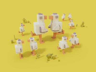 Dance With Me summer moha render 3d voxel voxelart magicavoxel 2020 design digital illustration illustration
