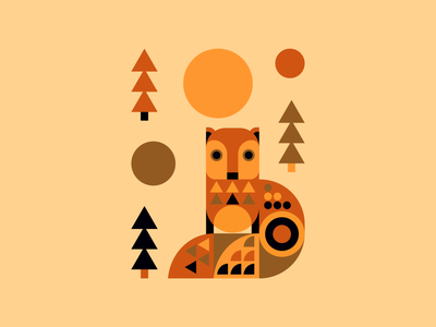 Fox illustrator character graphicdesign 2020 orange sun autumn fox characterdesign design digital art digital illustration vector illustration
