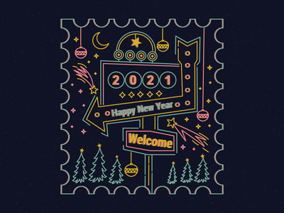 2021 merrychristmas illustrator digital painting digitalart design happy holidays happy new year 2021 winter digital art digital illustration vector illustration