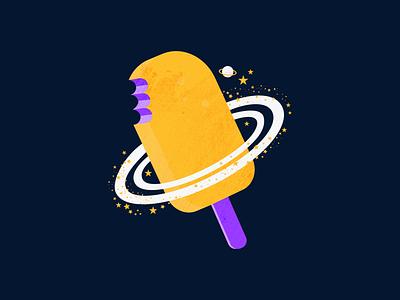 Ice Cream 2021 illustrator vectorart icecream space design night digital painting digital art digital illustration vector illustration