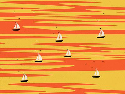 'Untitled_2021' winter 2021 the little prince ice cream boat sunset design digital art digital illustration vector illustration