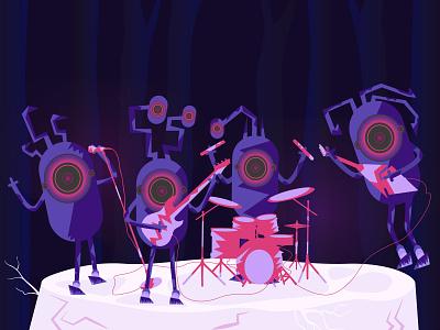 Rock Music rockband vector illustration