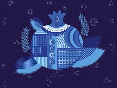 Happy Yalda winter yalda vector illustration