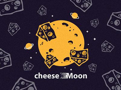 Cheese Moon vector cheese moon space illustration digital illustration digital art