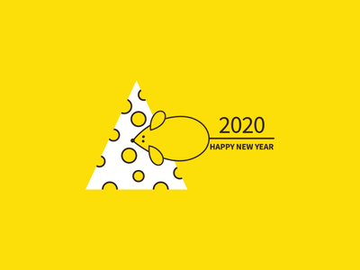 Happy New Year - 2020 graphic celebration 2020 newyear happy new year winter digital illustration digital art vector illustration