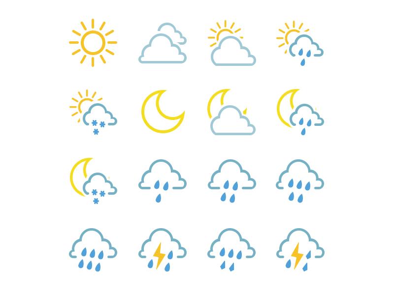 Nature ui icon app widget weather