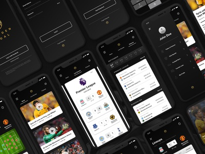 Golden Goal Mobile App - Flat Lay