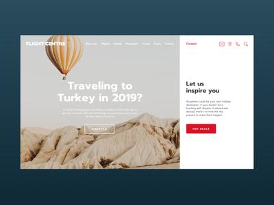 Flight Centre Website Concept
