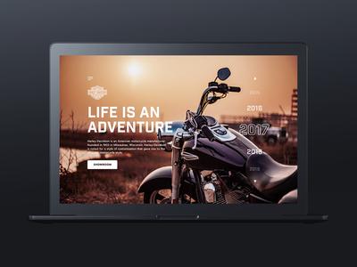 Harley Davidson Website Concept