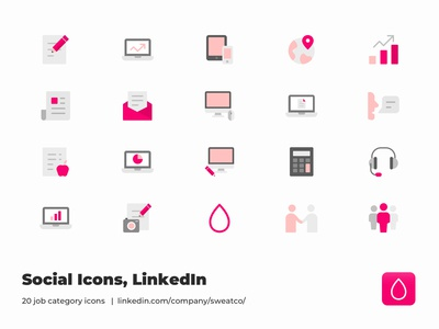 Sweat Social Icons
