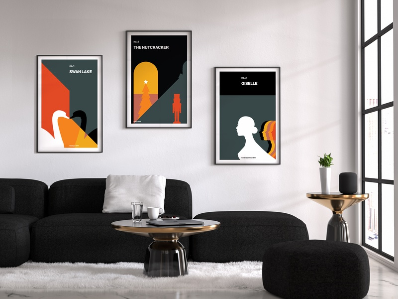 Ballet Posters Series poster ballet vector minimal graphic artist graphic art graphic abstract art abstract illustration flat adobe cover graphic design design branding