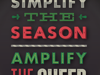 Simplify the season. Amplify the cheer.