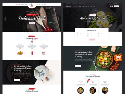 Resturant PSD Template Design for Themeforest