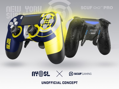Unofficial New York Subliners x Scuf Gaming controller concept counter strike csgo ps4 console call of duty controller scuf gaming scuf gaming esports esport new york subliners subliners nysl cod league codleague cod new york nyc ny