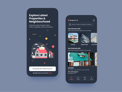 Buy and Sell Properties figma minimal app mobile ui mobile app iphone ux ui design
