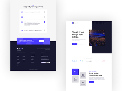 DesConX Landing Page Design hero web conference virtual landing page concept figmadesign design ux ui figma