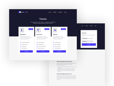 DesConX Landing Page Design virtual conference conference virtual landing page concept figmadesign design ux ui figma