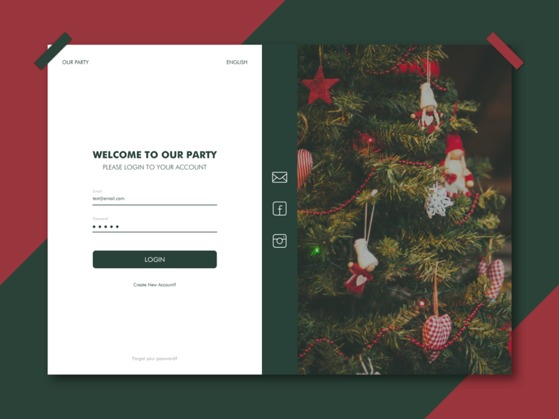 Invite NY party happy christmas christmas happy new year new year card new year 2019 new year website web ux ui design
