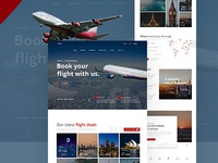 Skyline Airlines Landing page conceptual project