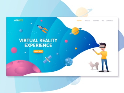 Virtual reality technology landing page website template!