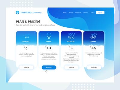 Pricing Page sketch app uiuxdesign design bright color blue landing page ui design uxui