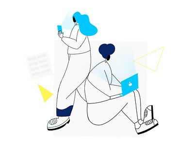 Technology Life vector digital illustration