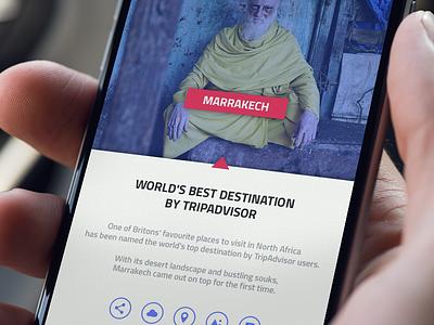 Wayfare iphone content text flat ios travel