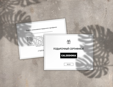 Gift certificate for Calzedonia Khv