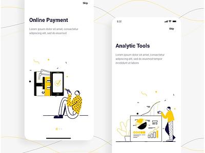 Intro Design uidesign ui simple artwork design sketch illustraion