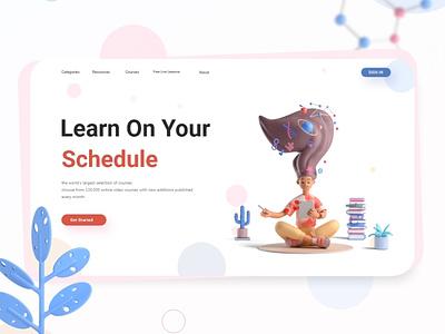 Online Education Platform graphicdesign landing conceptual inspiration fun onlineeducation education simple uitrends uidesign ui sketch design art artwork