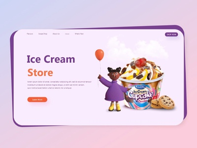 What can be more thrilling than ice cream :D blogdesign webdesign website branding design fun sketch uidesign ui artwork art