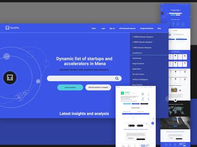 Techpin UI design