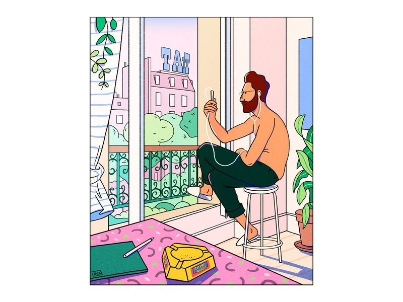 Tati Barbes iphone summer art photography fashion colour design style illustration drawing paris