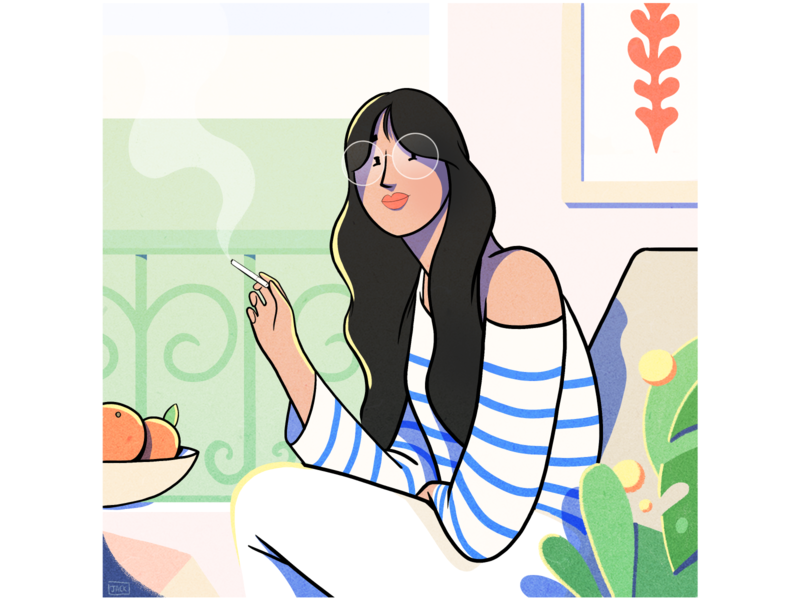 Window pose summer food photography fashion paris colour design style illustration drawing