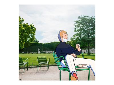 Biscuit au parc food art photography fashion paris colour design style illustration drawing
